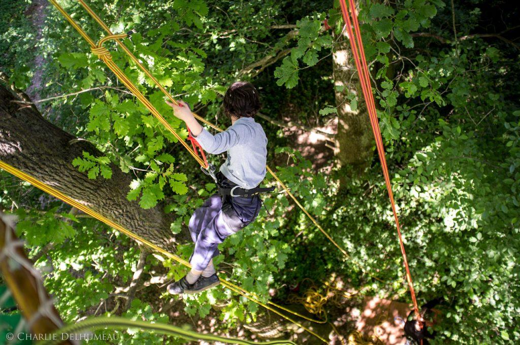 atelier de grimpe d'arbre Corde de déplacement
